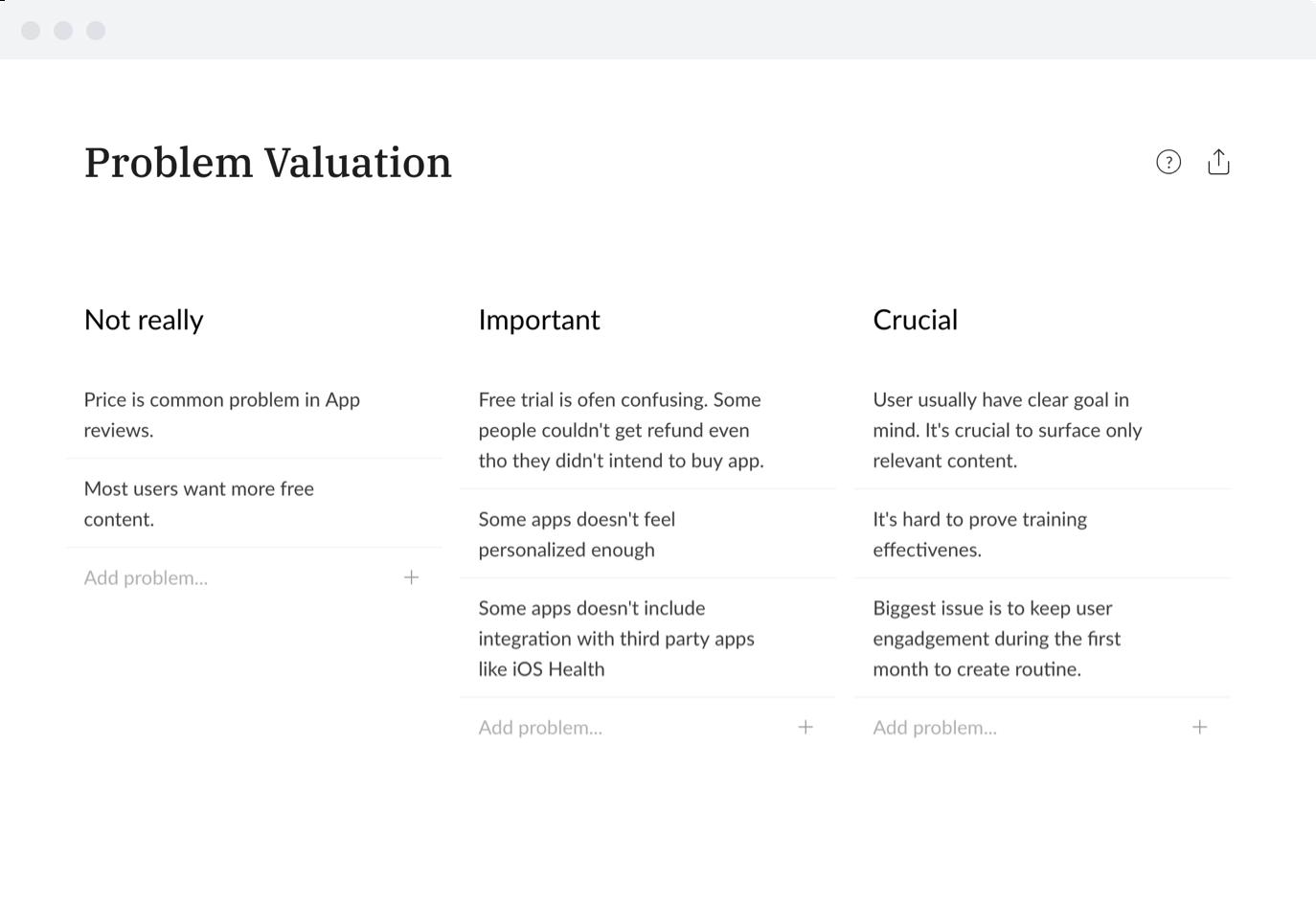 Problem Valuation image