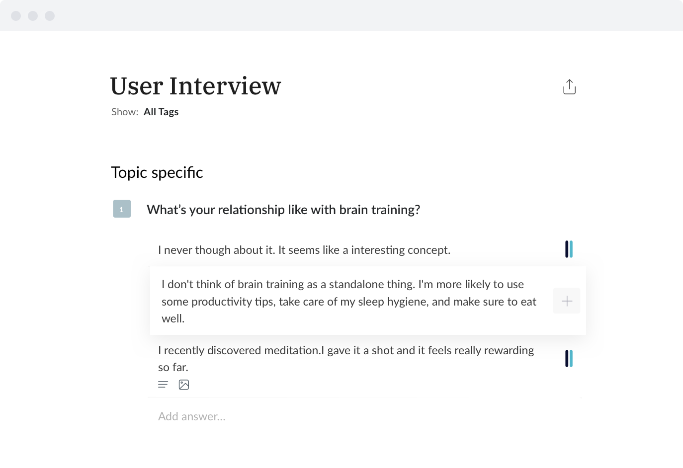 User Interview image